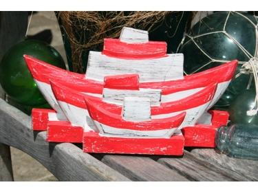 Nautical Napkins Letter Holder Red 8 Nautical Decor