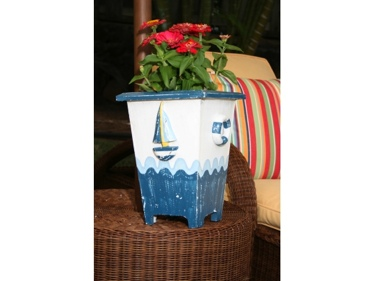 Planter Nautical Decor 12 Blue White Nautical Decor