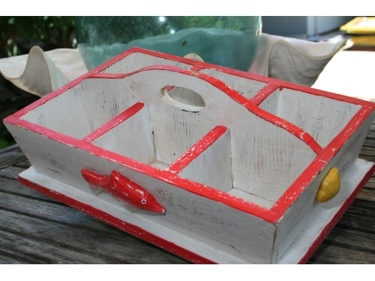 Divider Tray 6 Sections 16 Red Nautical Decor