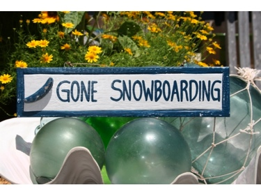 Gone Snowboarding Nautical Sign 12 Blue Beach Decor