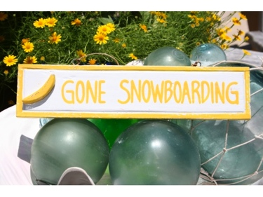 Gone Snowboarding Nautical Sign 12 Yellow Nautical Decor