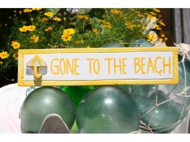 Gone To The Beach Nautical Sign 12 Yellow Beach Decor