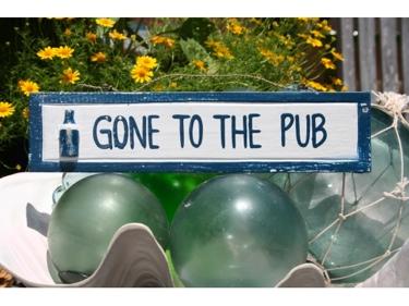 Gone To The Pub Nautical Sign 12 Blue Nautical Decor