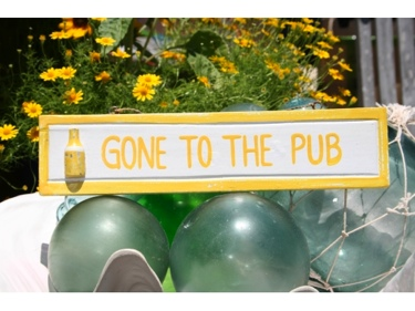 Gone To The Pub Nautical Sign 12 Yellow Nautical Decor
