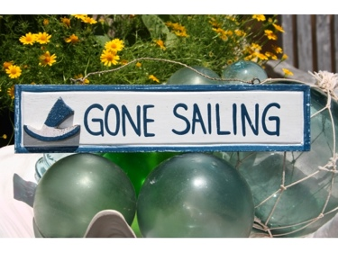 Gone Sailing Nautical Sign 12 Blue Nautical Decor