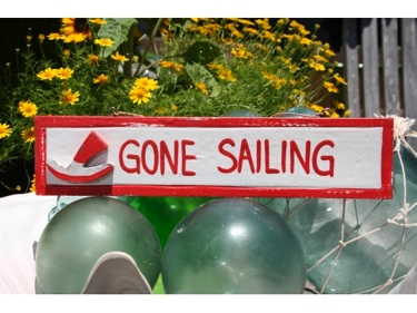 Gone Sailing Nautical Sign 12 Red Nautical Decor