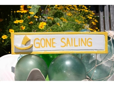Gone Sailing Nautical Sign 12 Yellow Nautical Decor