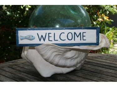 Welcome Nautical Sign 12 Blue Beach Decor