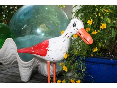 Seagull Bird Rustic Red Coastal 14 Garden Home Decor
