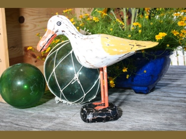 Seagull Bird Rustic Yellow Coastal 14 Garden Home Decor