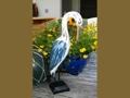 Egret Bird Rustic Blue Coastal 14 Garden Home Decor