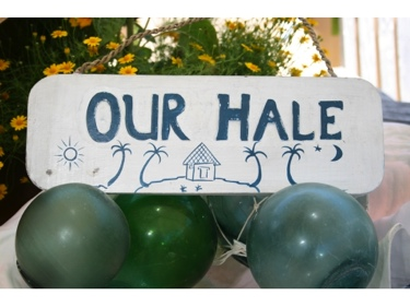 Our Hale Beach Sign 14 Rustic White Blue Coastal Decor