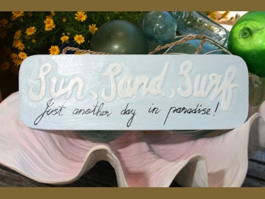 Sun Sand Surf Just Another Day In Paradise Beach Sign 14 Coastal Decor