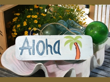 Aloha Beach Sign 14 Coastal Decor