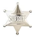 Sherrif Badge Pin - Silver