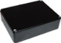 Box Hammond Black Aluminum 4.67 Inch x 3.68 Inch x 1.1 Inch Depth