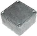 Box Hammond Unpainted Aluminum 1.99 Inch x 1.99 Inch x 1.06 Inch Depth