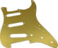 Pickguard Fender Strat 11-Hole Gold-Anodized
