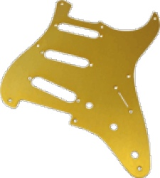 Pickguard Fender Strat 8-Hole Gold-Anodized Aluminum