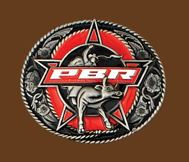 Professional Bull Riders Licensed Belt Buckle Bullrider 4 x 3-1/4