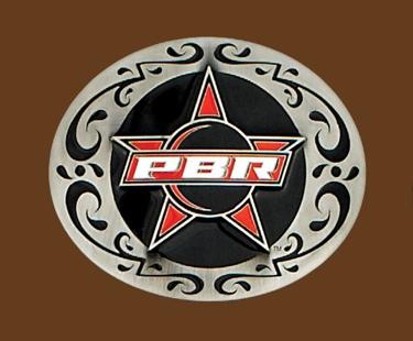 Professional Bullriders Licensed Belt Buckle Logo 4 x 3-1/4