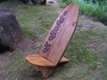 Longboard Surf Chair Hibiscus Design Pool Decor
