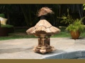 Tiger Bamboo Tiki Lantern Outdoor Light 2.5 Foot