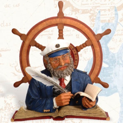 24 Inch H. Wall Plague Captain And Ship Wheel Nautical Ship Wheel