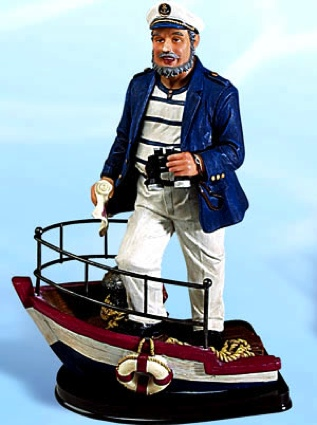 11 Inch Captain on Bow Nautical Figure