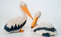4 Inch Pair of Pelicans