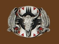 Steerhead & Eagle Belt Buckle 3-1/8 x 2-1/4
