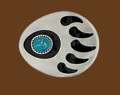 Bear Claw Belt Buckle Turquoise 3 x 2-1/2