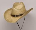 TEA STAINED Raffia Straw Hat