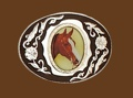 Horsehead Belt Buckle 3-1/4 x 2-1/2
