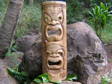 Double Headed Mask 39 Acacia Wood Love Prosperity