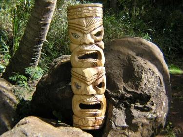 Double Headed Mask 39 Acacia Wood Love Prosperity