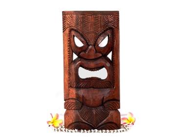 Kanaloa Tiki Mask 18 Brown Color Hawaiian Tradition