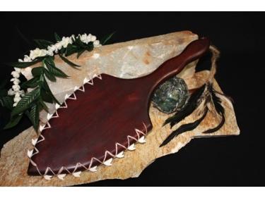 Hawaiian Shark Tooth Weapon Drawing
