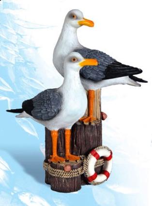 Polystone Twin Pelicans
