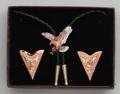 Bolo Tie & Collar Tip Boxed Set - Tri-Color Eagles