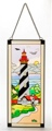17.5 Inch x 7.5 Inch St. Augustine Stain Glass Lighthouse Decor