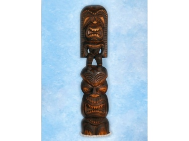 Stacked Tiki Kanaloa Lono 40 Island Decor