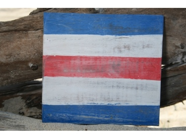 C Nautical Rustic Flag 8' X 8' Wood Panel Nautical Decor