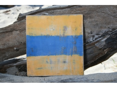 D Nautical Rustic Flag 8' X 8' Wood Panel Nautical Decor