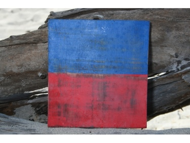 E Nautical Rustic Flag 8' X 8' Wood Panel Nautical Decor