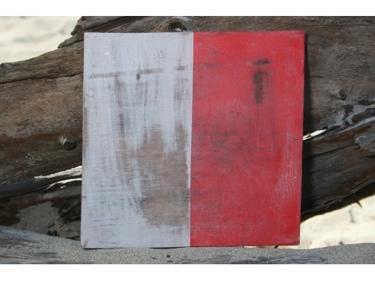 H Nautical Rustic Flag 8' X 8' Wood Panel Nautical Decor