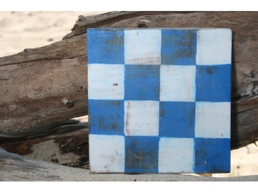 N Nautical Rustic Flag 8' X 8' Wood Panel Nautical Decor