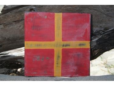 R Nautical Rustic Flag 8' X 8' Wood Panel Nautical Decor