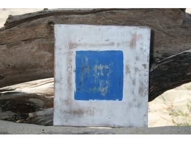 S Nautical Rustic Flag 8' X 8' Wood Panel Nautical Decor