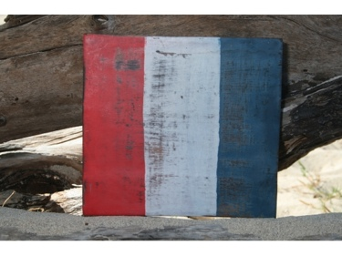 T Nautical Rustic Flag 8' X 8' Wood Panel Nautical Decor